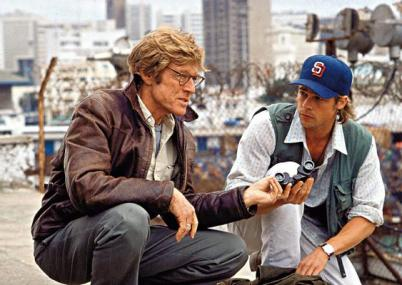 With Robert Redford in Spy Game.