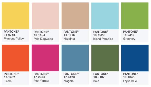 Pantone Colours 2017