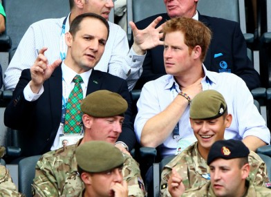 Prince Harry and Grevemberg at 20th Commonwealth Games